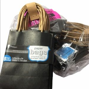 Gift bags, 24 black chalkboard small